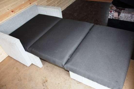 Выкатное большое кресло в рогожке 90 см