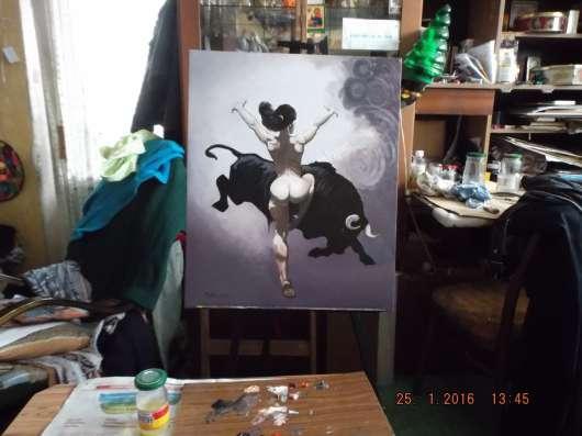 Картина от РиКо Танец с быком в Москве Фото 6