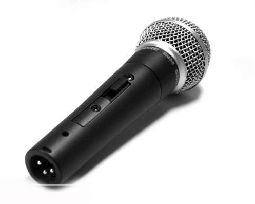 Shure SM58 новый микрофон с выключателем