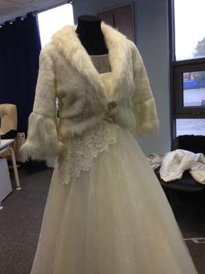 Шикарное дизайнерское свадебное платье+фата