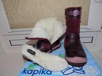 детские зимние сапоги KAPIKA детская обувь