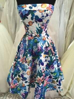 Вечерние платье, корсет, цветочный принт
