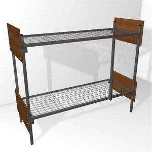 Металлические кровати для бытовок, кровати для вагончиков, кровати для рабочих, кровати двухъярусные для строителей, армии низкая цена.
