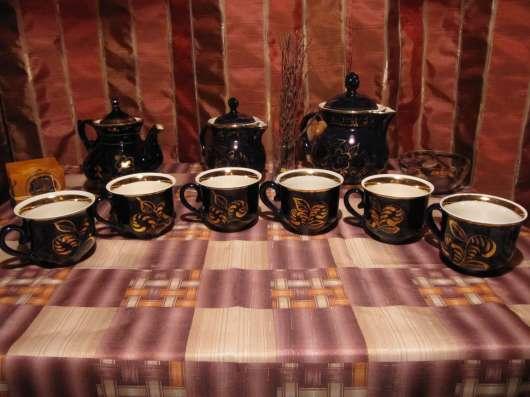 Кобальтовый чайный сервиз, Гжель (СССР)