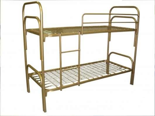 Кровати металлические двухьярусная, для больниц, металлические кровати с ДСП спинками, кровати для бытовок, кровати оптом, От производителя. в Сочи Фото 5