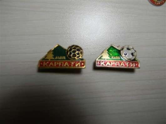 """Значки, футбол, """"Карпаты""""Львов, 24 штуки, 1969-1980гг"""