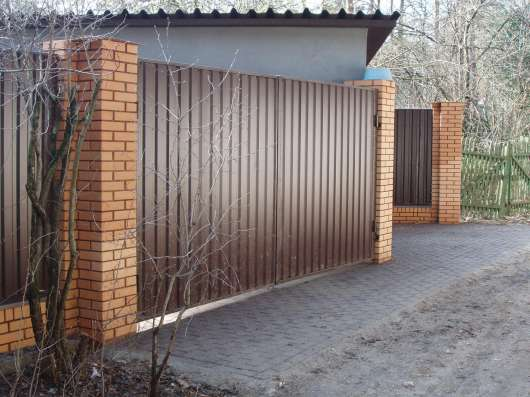 Ворота металлические кованные откатные распашные