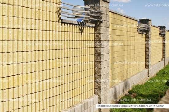 Блок декоративный канелюрный (заборный) «Силта-Брик»