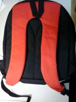 Рюкзак черный с красным. два отделения.