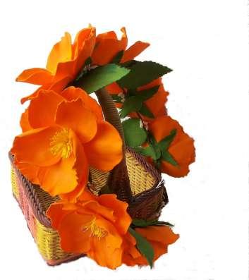 Венок на голову с цветами из фоамирана