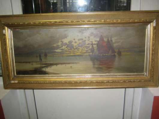 Картину-Морской пейзаж-,Европа,х.м.