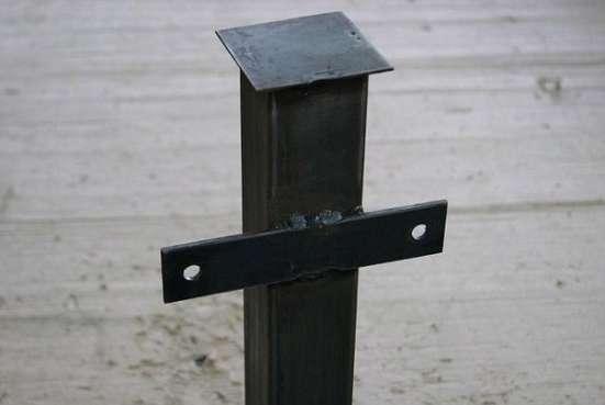 Столбы металлические для забора