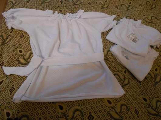 Блузка белая, с коротким рукавом, школа, дет. сад