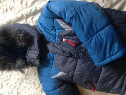 Зимний очень теплый комбинезон, на 3-5 лет