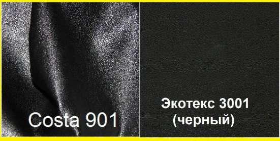 Стулья Олаф (черные) с хромированным каркасом