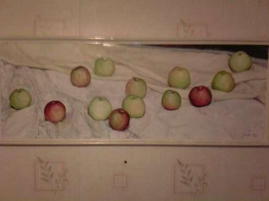 Картина, яблочный спас, авторская