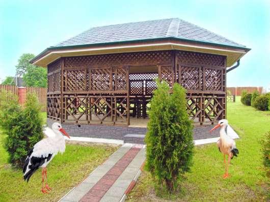 Коттедж в Беларуси. Деревянный сруб. Два этажа, вода, газ