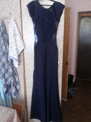 Вечернее длинное платье