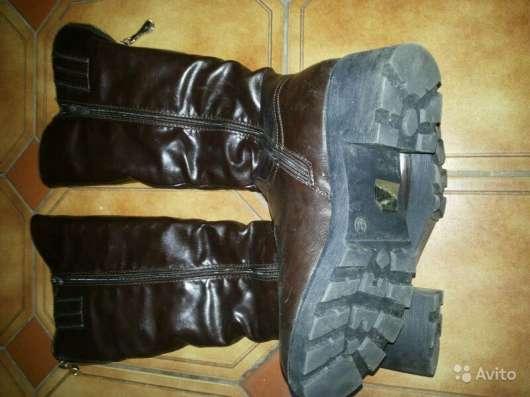 Зимние сапоги- ботфорты