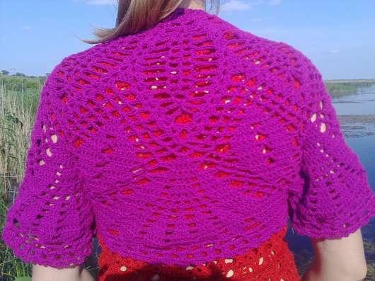 Вязаное летнее балеро (накидка)
