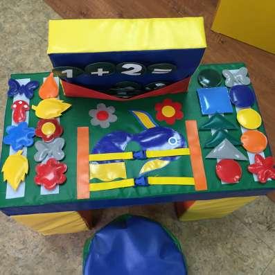 Дидактический столик с пуфом в наличии