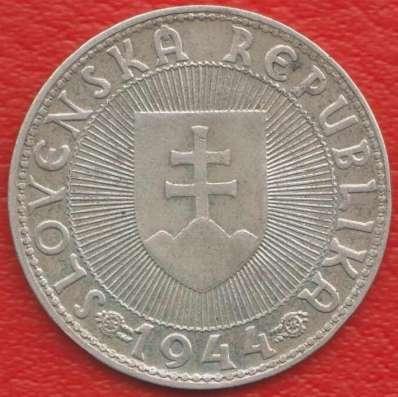 Словакия 10 крон 1944 г. Прибина князь серебро