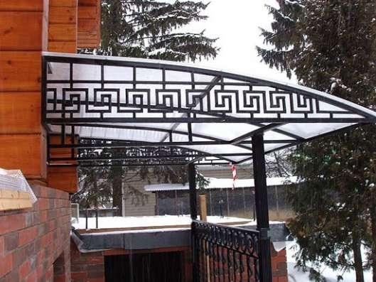 Навесы из поликарбоната и козырьки в Екатеринбурге Фото 3