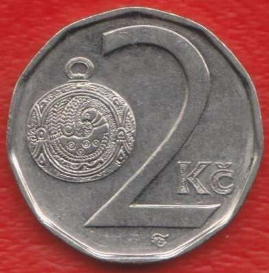 Чехия 2 кроны 1998 г.