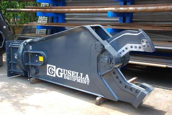 Навесные гидроножницы Gusella на экскаваторы/погрузчики
