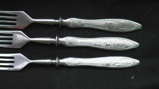 Вилки и ножи СССР звезда серп и молот в Саратове Фото 1