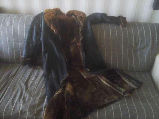 Женская дубленка длинная, размер 44-46, производство Турция
