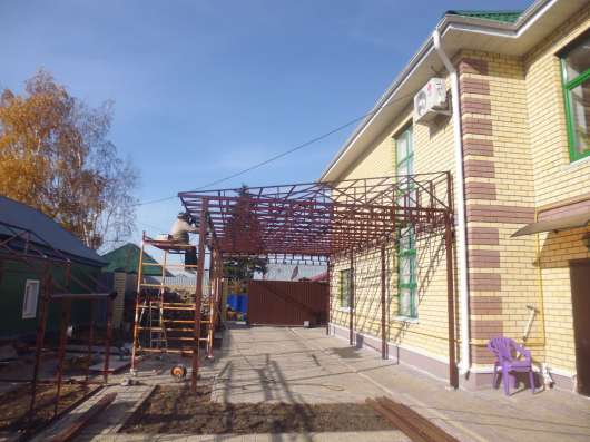 Изготовлю продам установим, Лестница Откат. ворота, навес в Омске Фото 1
