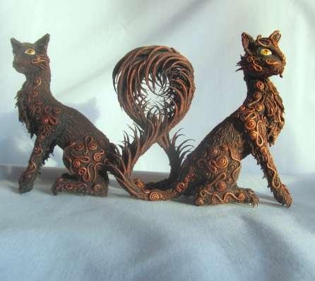 Кошки из полимерной глины в Сургуте Фото 2