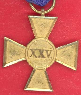 Германия Пруссия Крест 25 лет военной выслуги