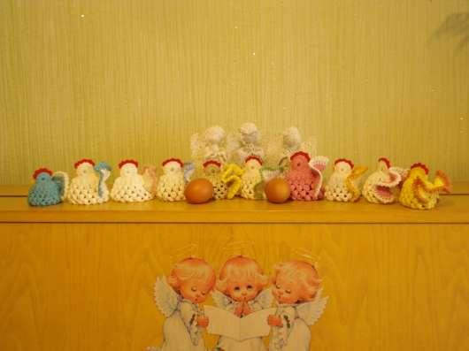 Aжурныe ангелочки и курочки-грелки для яиц