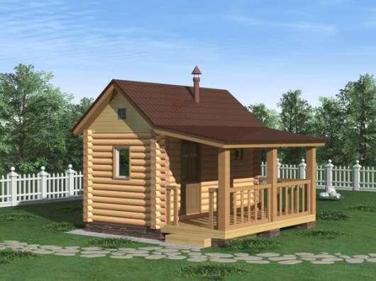 Дом (баня) из оцилиндрованного бревна d 220мм, площадью 3000×6000×2400мм в Чебоксарах Фото 3
