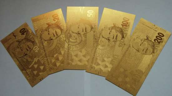 Коллекция золотых банкнот 24 к 20 штук + сертификат в Артемовский Фото 4