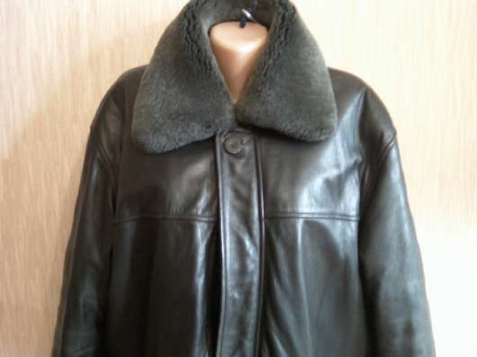 Мужская кожаная куртка на натуральной подстёжке