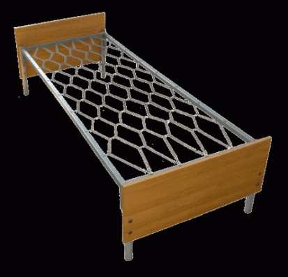 Металлические кровати с ДСП спинками для больниц, оптом, по низким ценам.