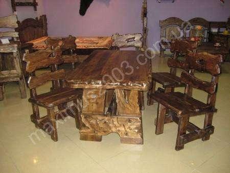 Столы под старину из дерева в Екатеринбурге Фото 2