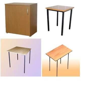 Стол, стул, тумба