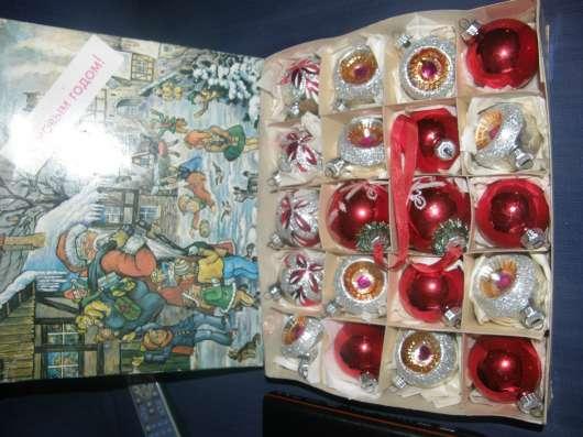 Набор ёлочных игрушек в коробке ГДР