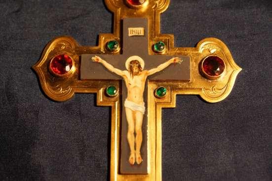 Наградной наперсный крест с украшениями. Москва, кон. XIX в