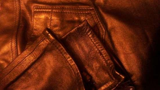 Кожаные брюки женские Италия
