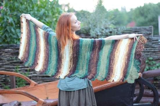 шарф шаль палантин пончо трансформер ручная работа