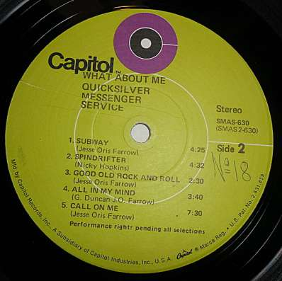 Quicksilver – What About Me