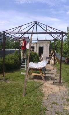 Заборы козырьки навесы ворота металлоконструкции в г. Минск Фото 3