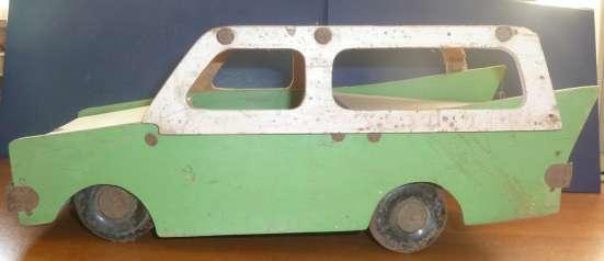 Игрушка машина деревянная СССР 1950 винтаж