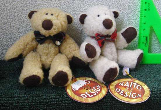 2 игрушечных медведя ручной работы