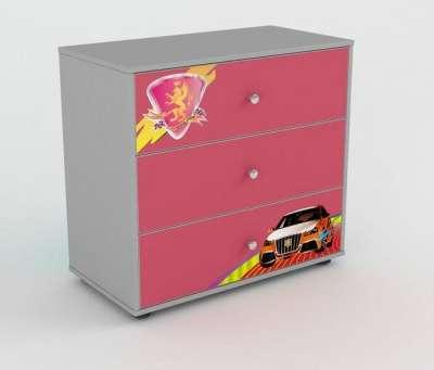 Комод с ящиками R800 розовый